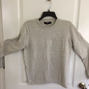 J Crew long sleeve 100% cotton sweater in grey